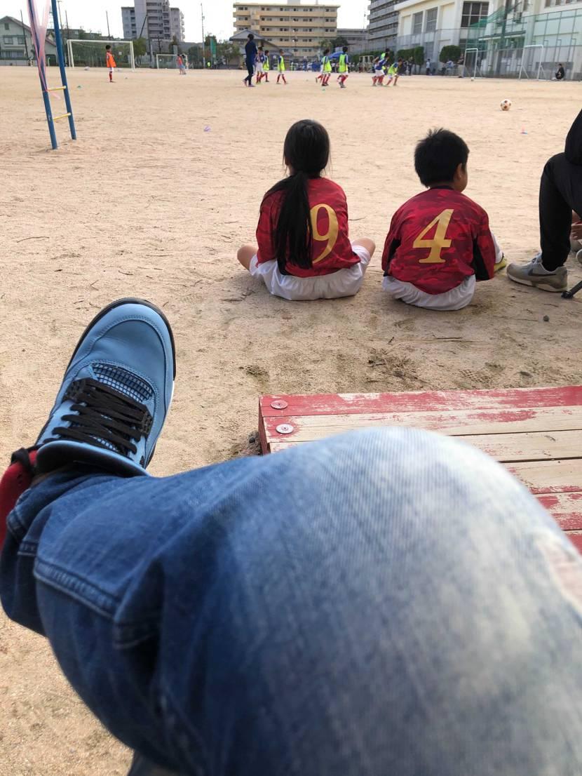 今日はAJ4×travisで娘のサッカー試合に応援💪 ゲーム内容はイマイチだっ