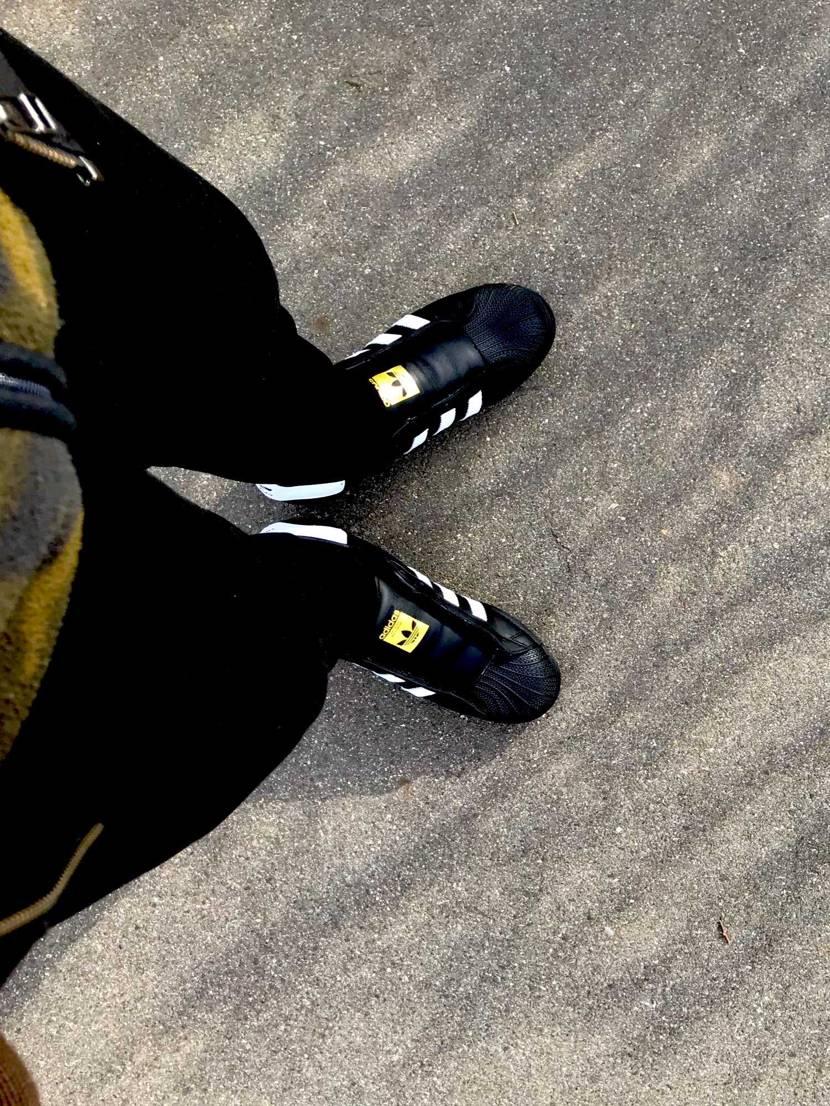 お散歩 #adidas #superstar #black #rundmc #