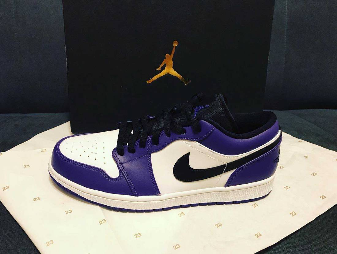 先日発売の「Nike Airjordan1 low court purple」