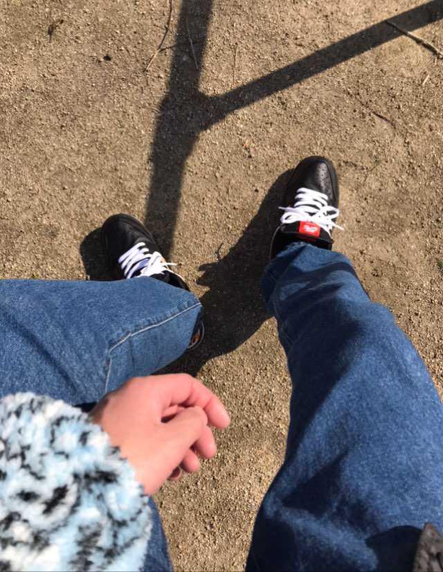 レイガンダンク初履き👟 公園来るなら汚れてもいいのにすれば