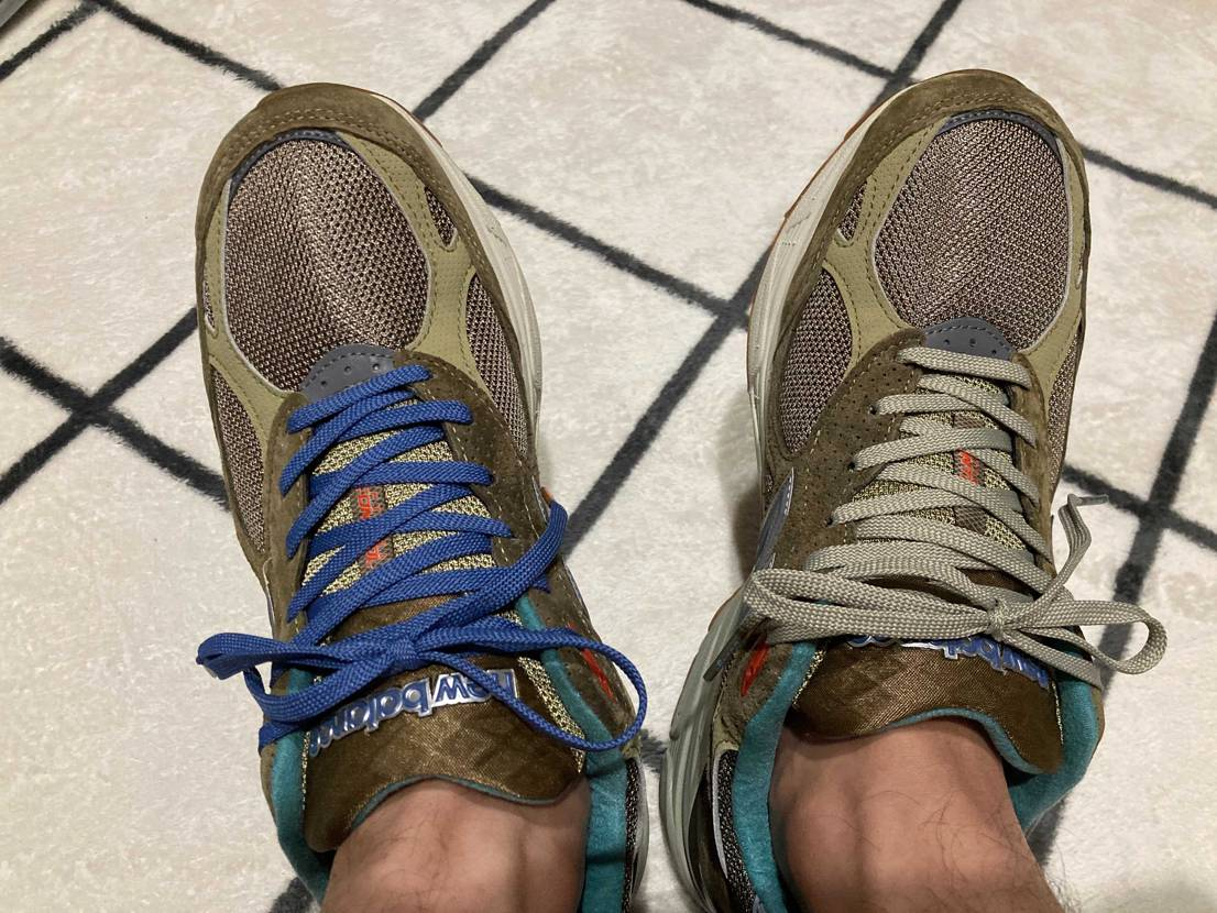 我慢できませんでした(笑) 汚い足の写真で申し訳ありませんが、眺めるよりも履い