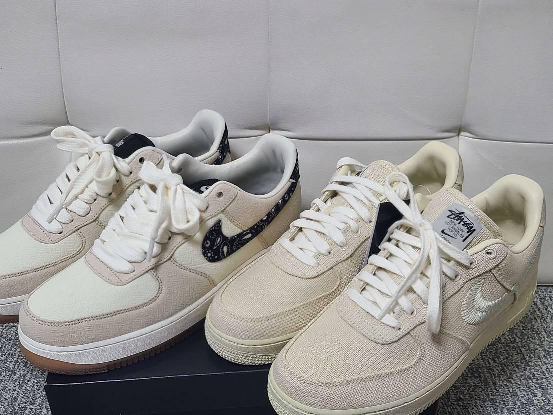 ZOZO購入のAF1ペイズリー到着しました 嫁さんから同じ靴また買って~って小言