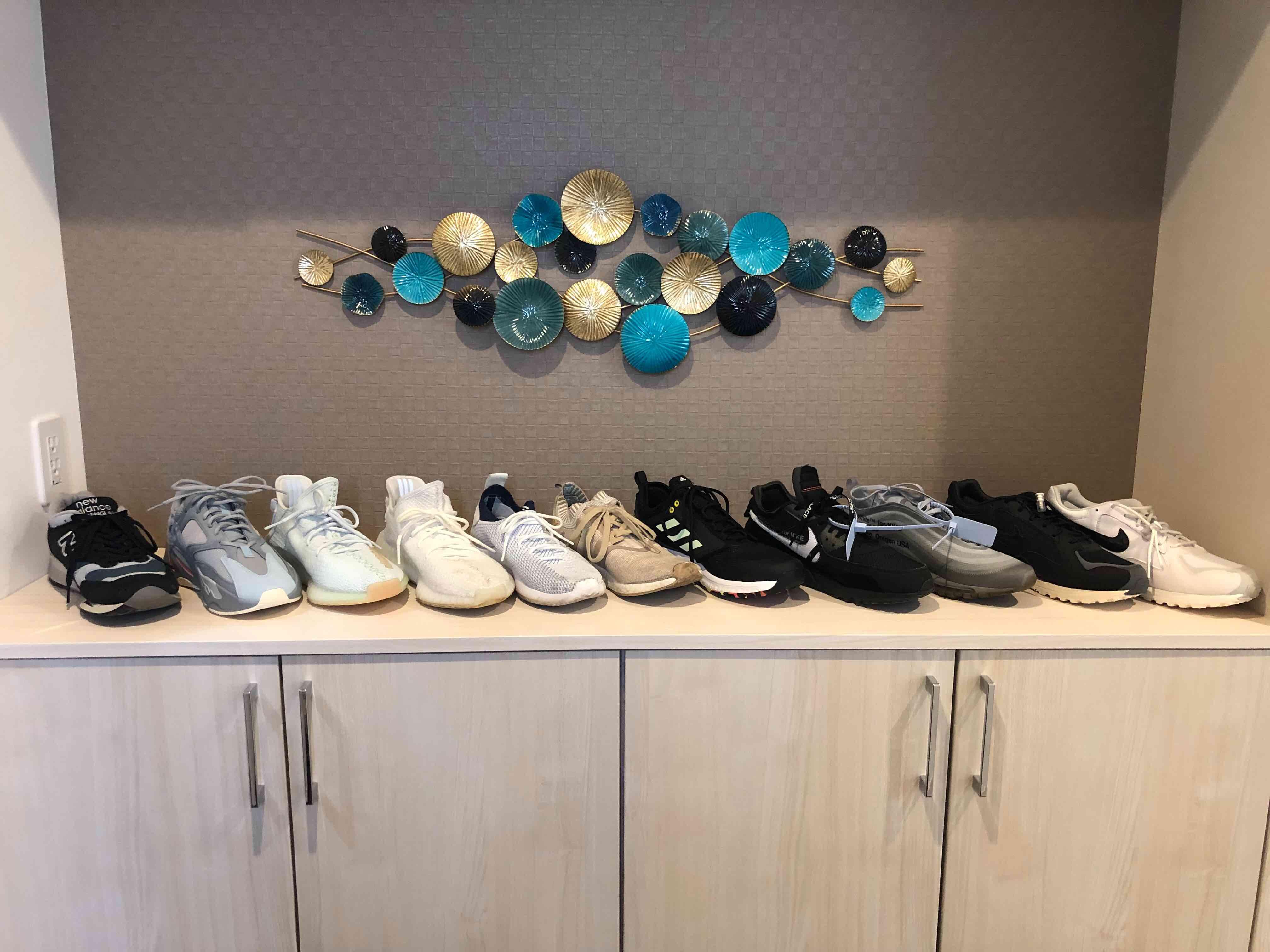 コレクションの大半です。 他のスニーカーは、後日載せてみます。