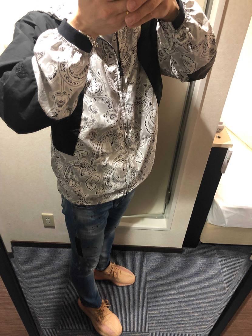 先日購入した、ノースフェイスのジャケット着て旭川の街を飲み荒らしに行ってきます。