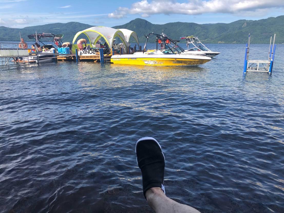ざー!  お盆休みを利用して、洞爺湖に遊びに行きました。 非常に疲れた。