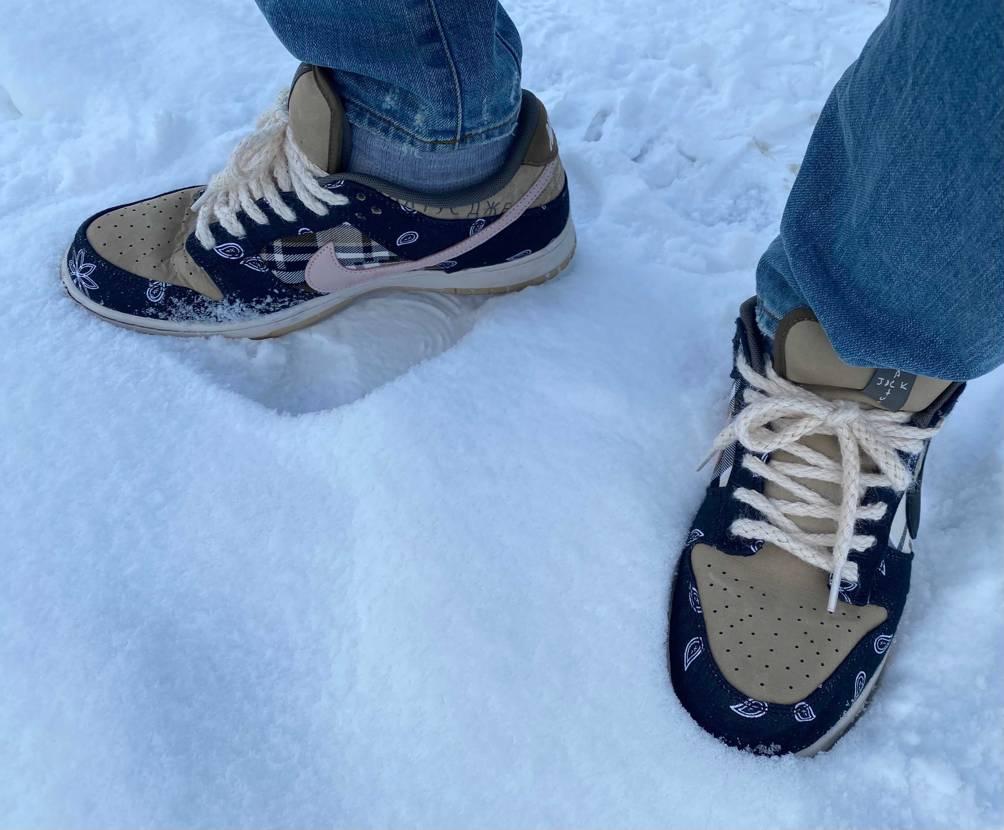 ダンク履きました。  雪が溶けてきたんで、履き替えましたとさ。