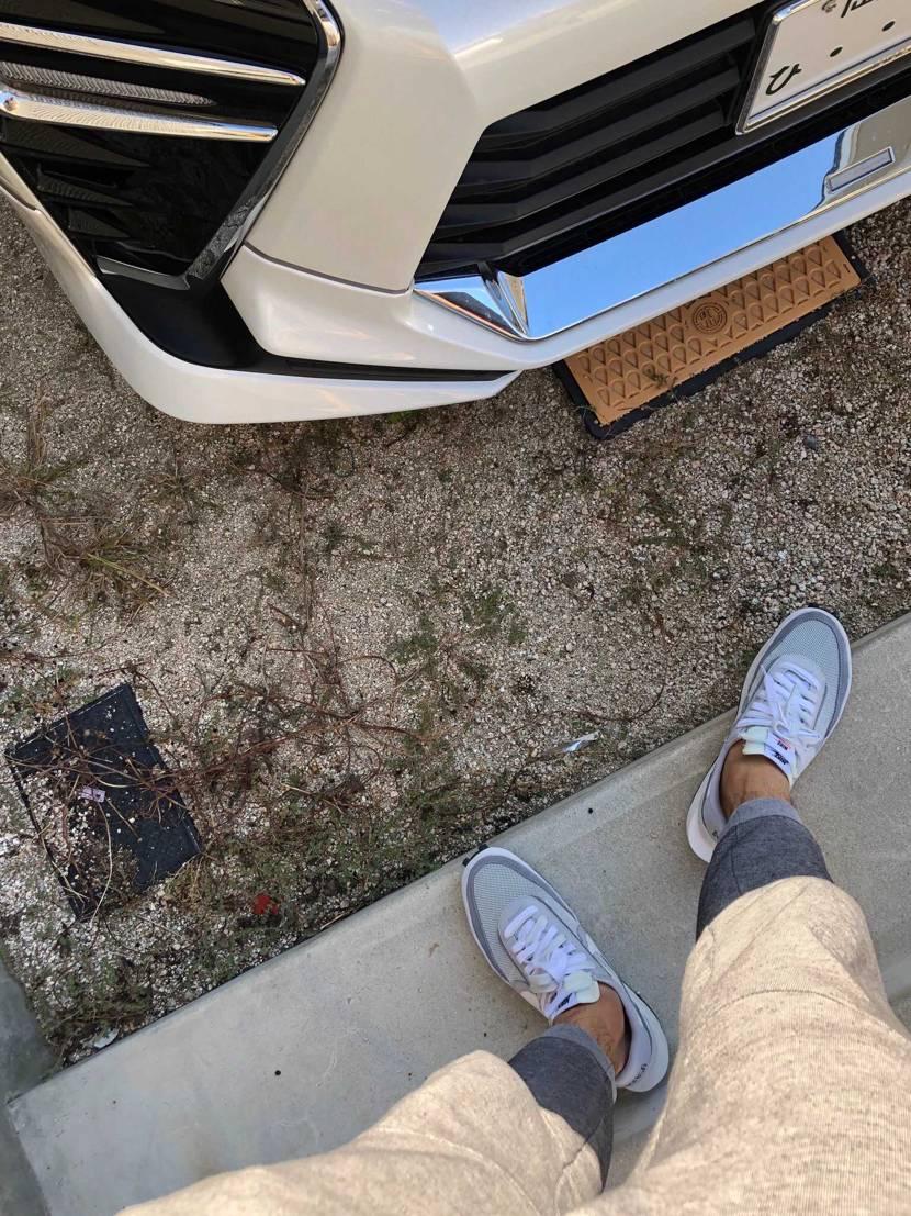 寒くなる前に履かなきゃ履けなくなる(´・ω・`) しかし車運転したら踵が汚れる