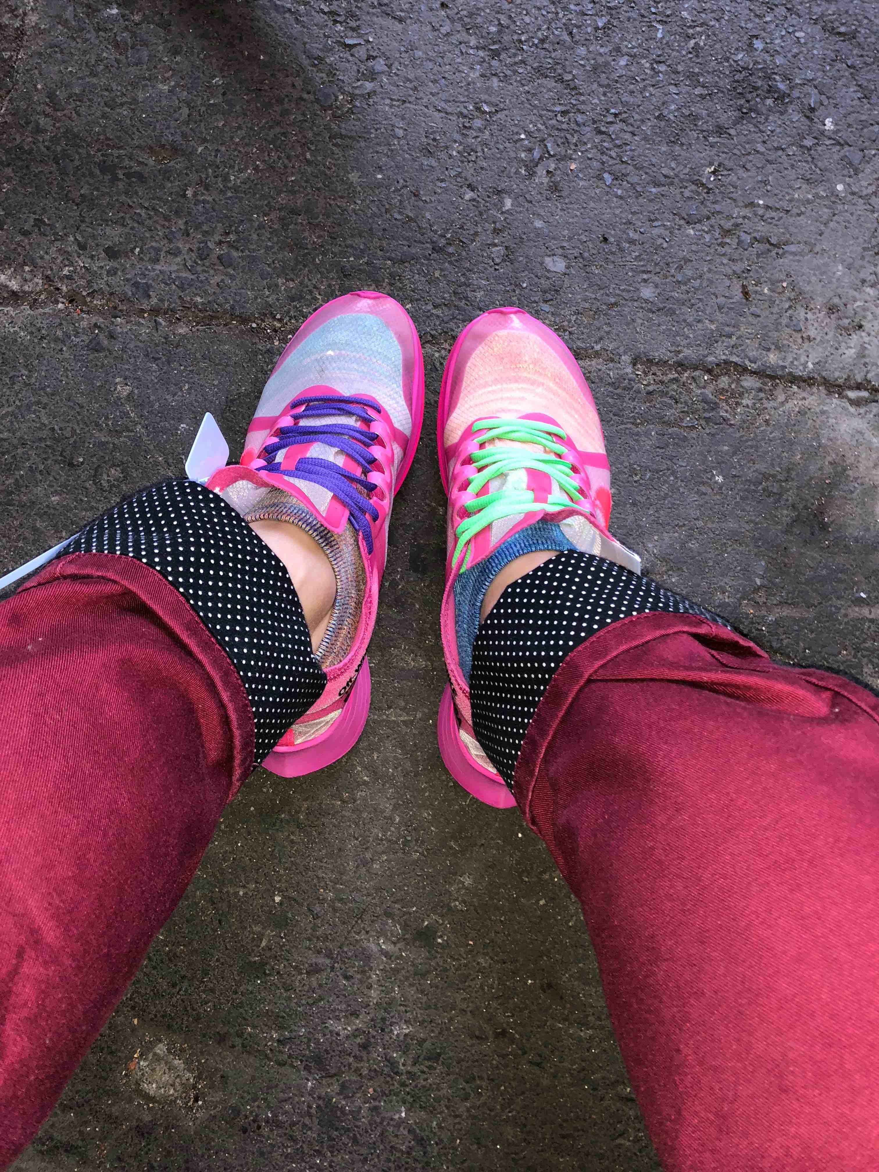 ズーム初履き 流石に合わす色迷ったけど、目立ちすぎずシックリきたかな