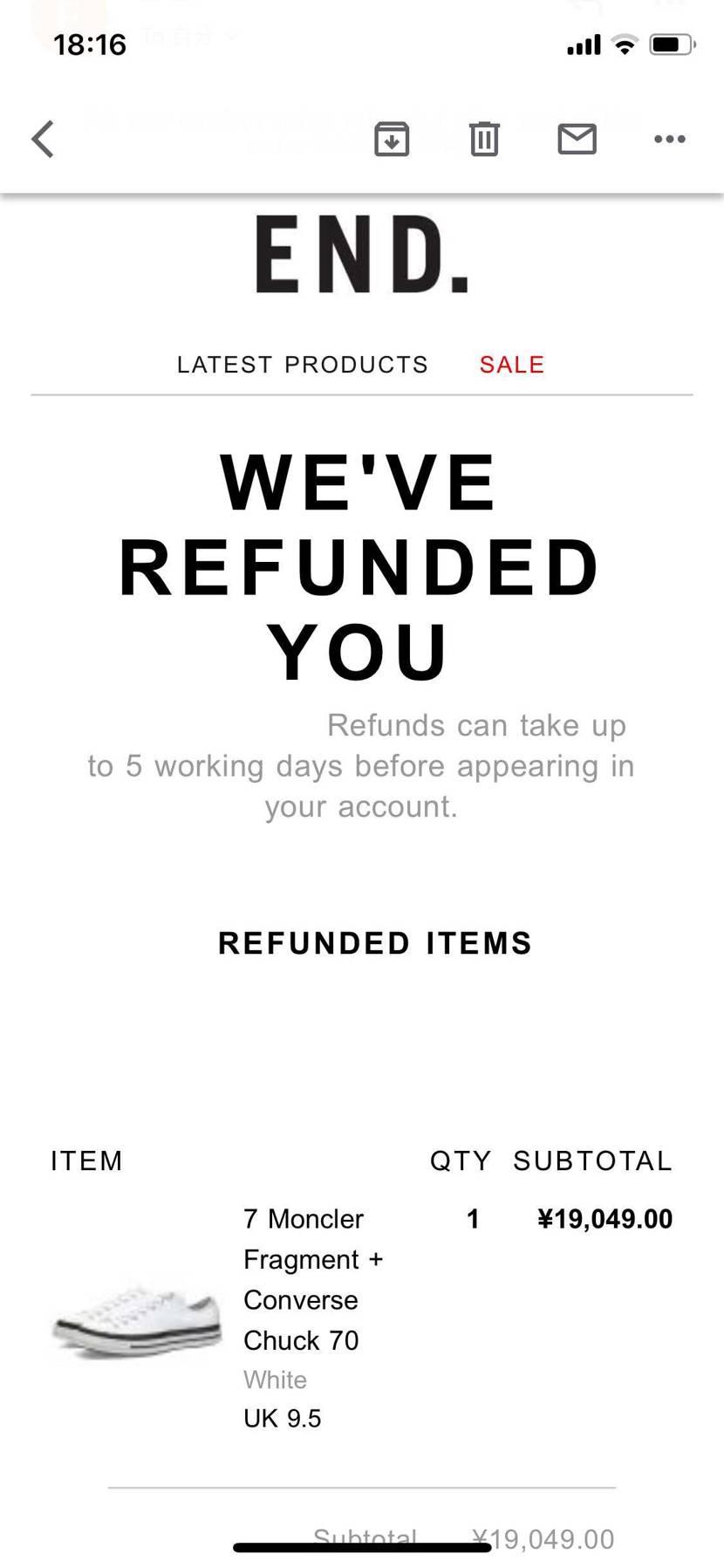 自分のはキャンセルされてなかったから届くかと思ったら、やっぱりダメでしたね…