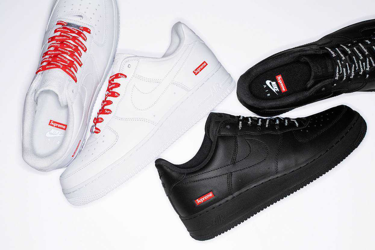 """SUPREME × NIKE AIR FORCE 1 LOW """"WHITE/WH"""