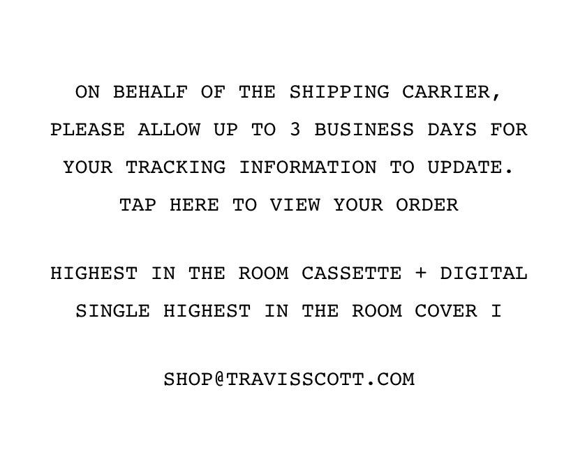 Travis発送メールやっと来た😂本当に届くんだw