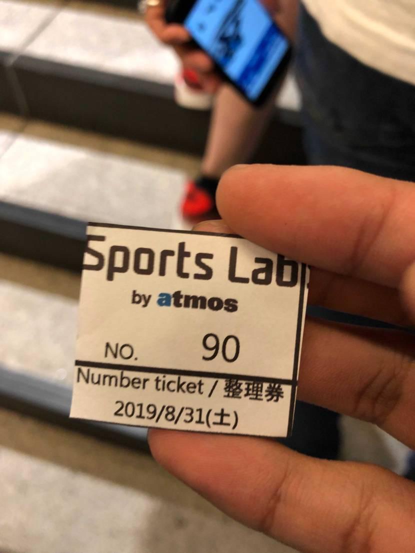 横浜のatmosでなんとかゲット 20人分しかなくて11番だったけど人気のサイ