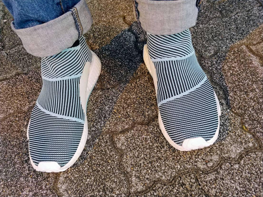 adidas Originals NMD CS1 PARLEY  楽ですね!靴下