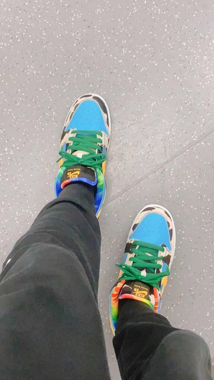 緑の靴紐付けましたぉ。