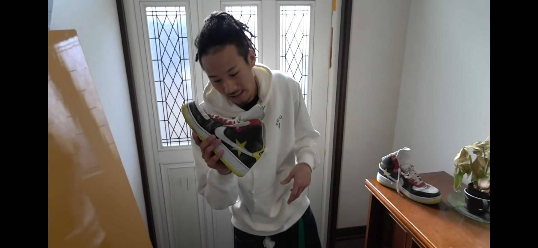 どなたか、このMYくんがセメント積められた靴わかるかたいますか?