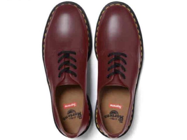 supreme x dr.martens 4-eye shoe Burgundy