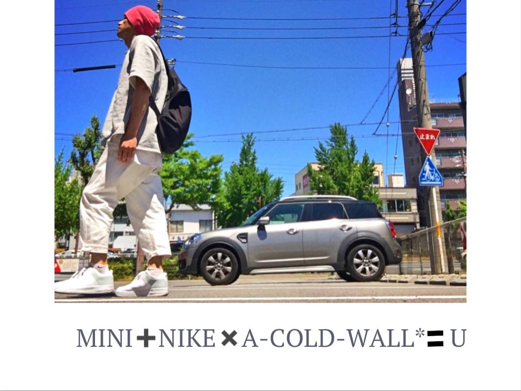 . MINI➕NIKE✖︎A-COLD-WALL* =U✌🏽 . .