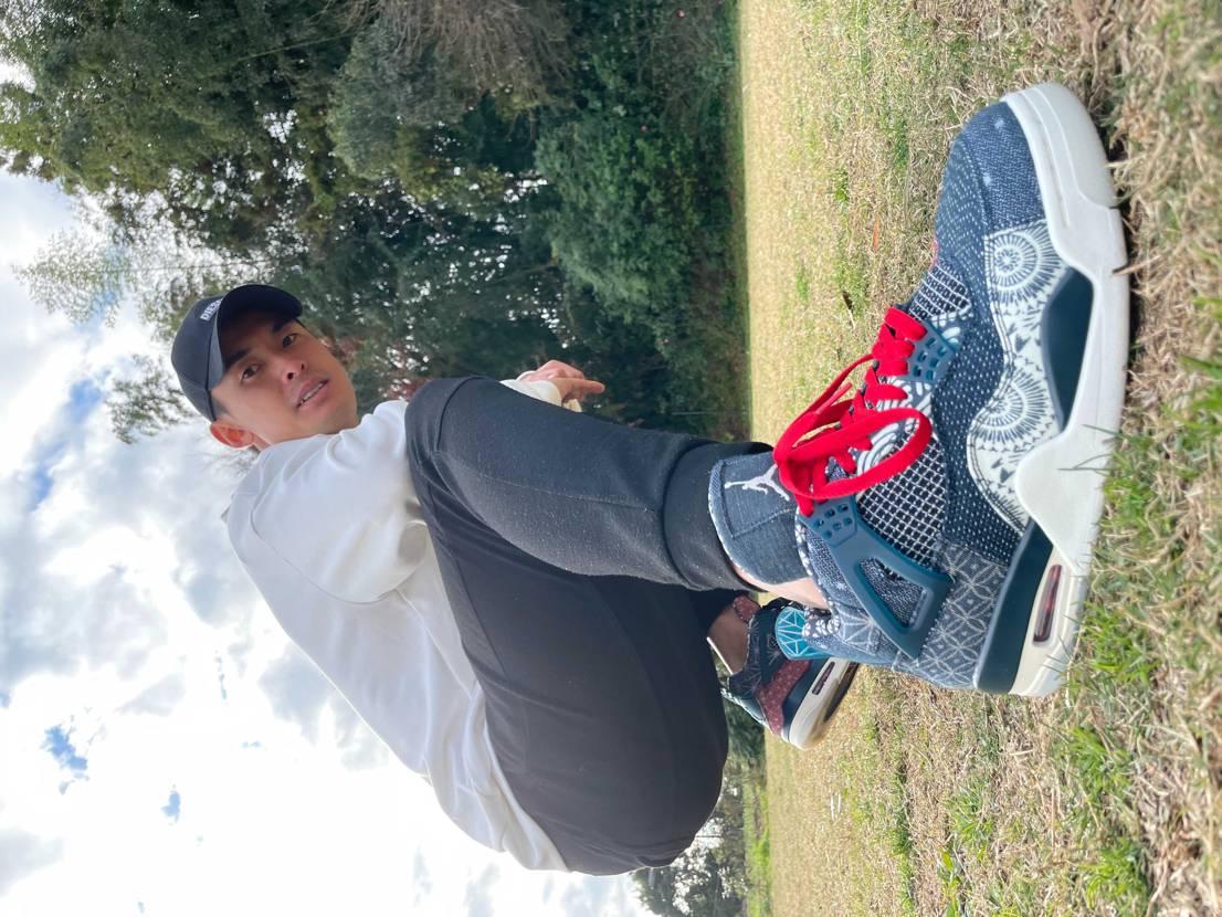 キモ撮りしてみました!! やっぱりこの靴カッコいい!!