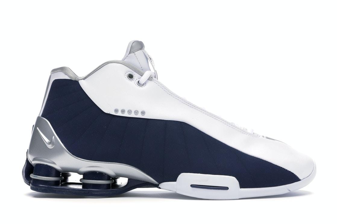 Nike Shox BB4 White Silver Navy
