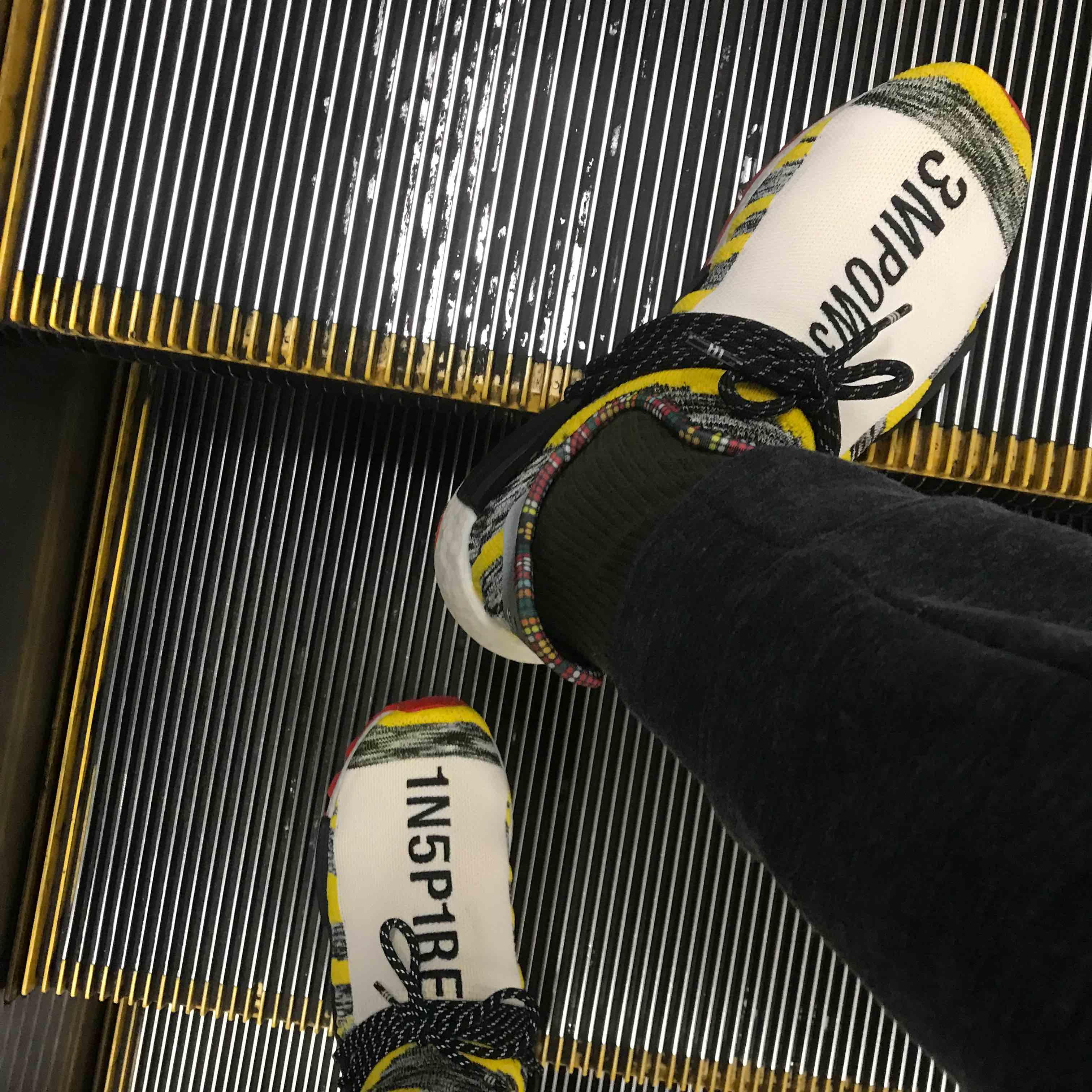 久々に履いた NMD  独特の締め付け感と靴下の延長線上のようなデザインと履