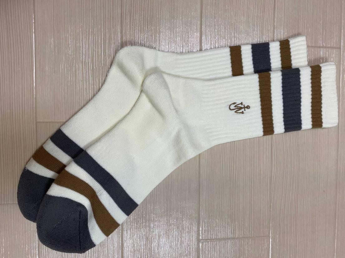 ユニクロで390円で売ってたJW ANDERSONの靴下がモカに合いそうと思って