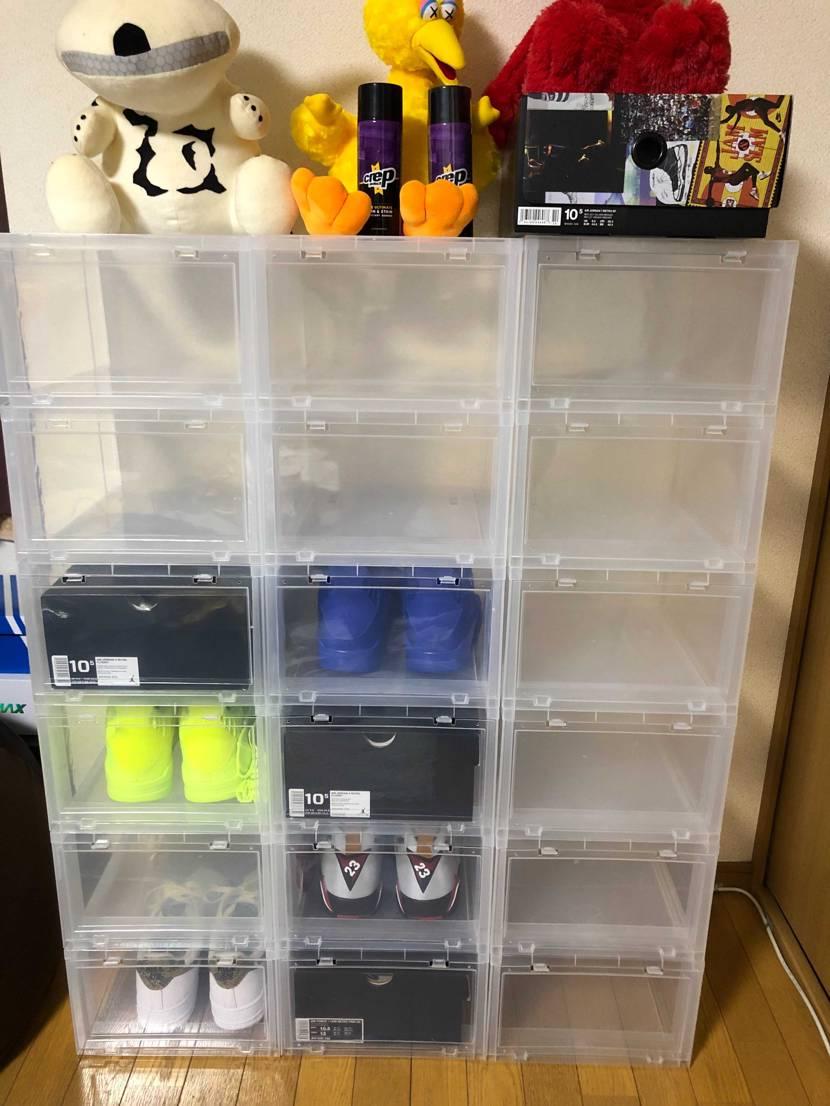靴買う前にケース買いすぎたwww