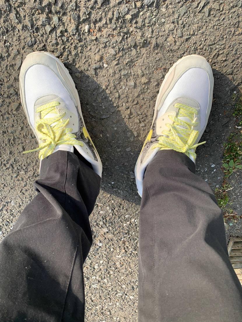 近所の散歩に。リバースダックカモも気になったけど90はこれがあるからと我慢。汚れ