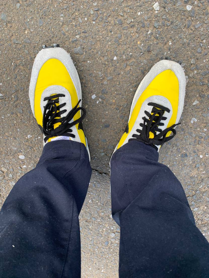 近所の散歩で久々にデイブレイク履きました。アンカバコラボはこのモデルぐらいまでは