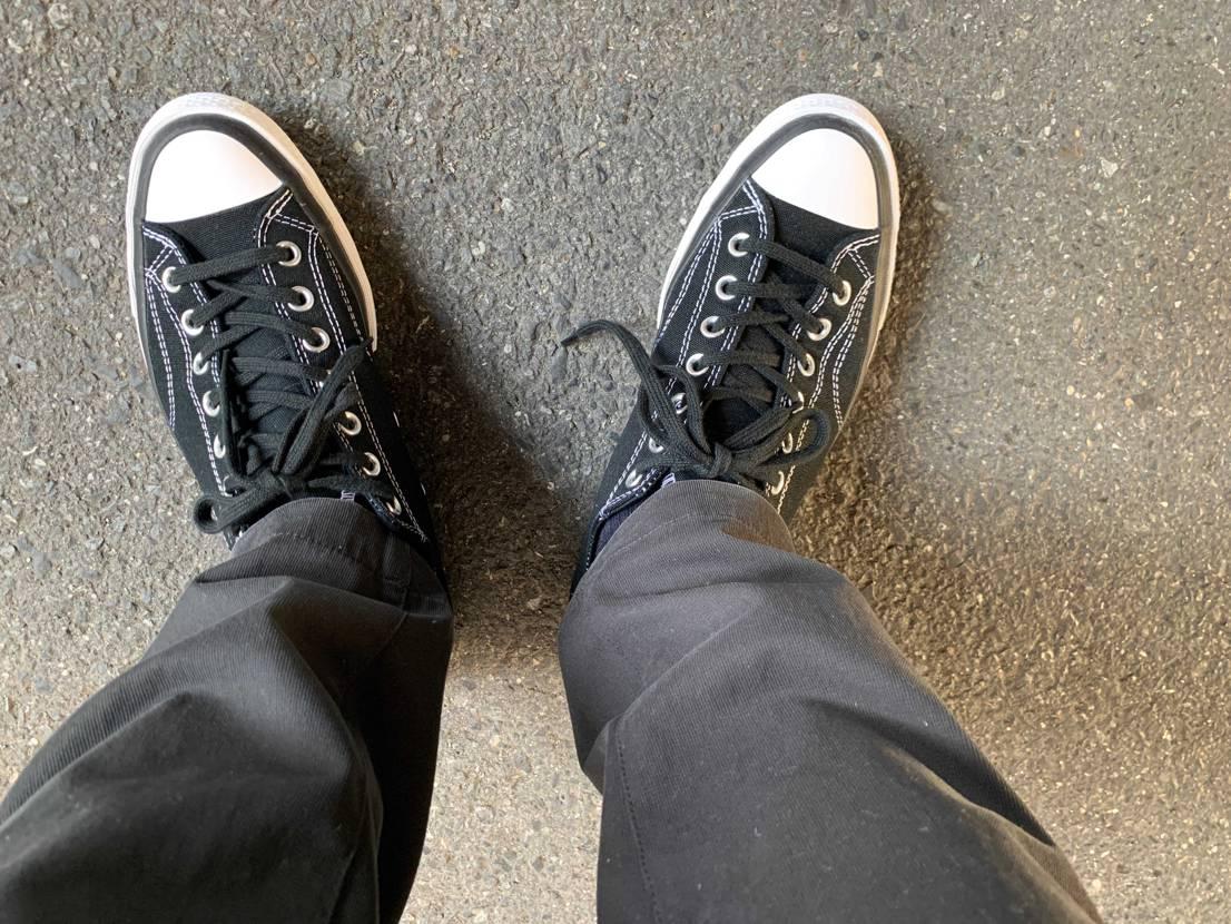 天気が良いのでフラグメントCT70黒を下ろしました!履き心地も良いので通勤用に重