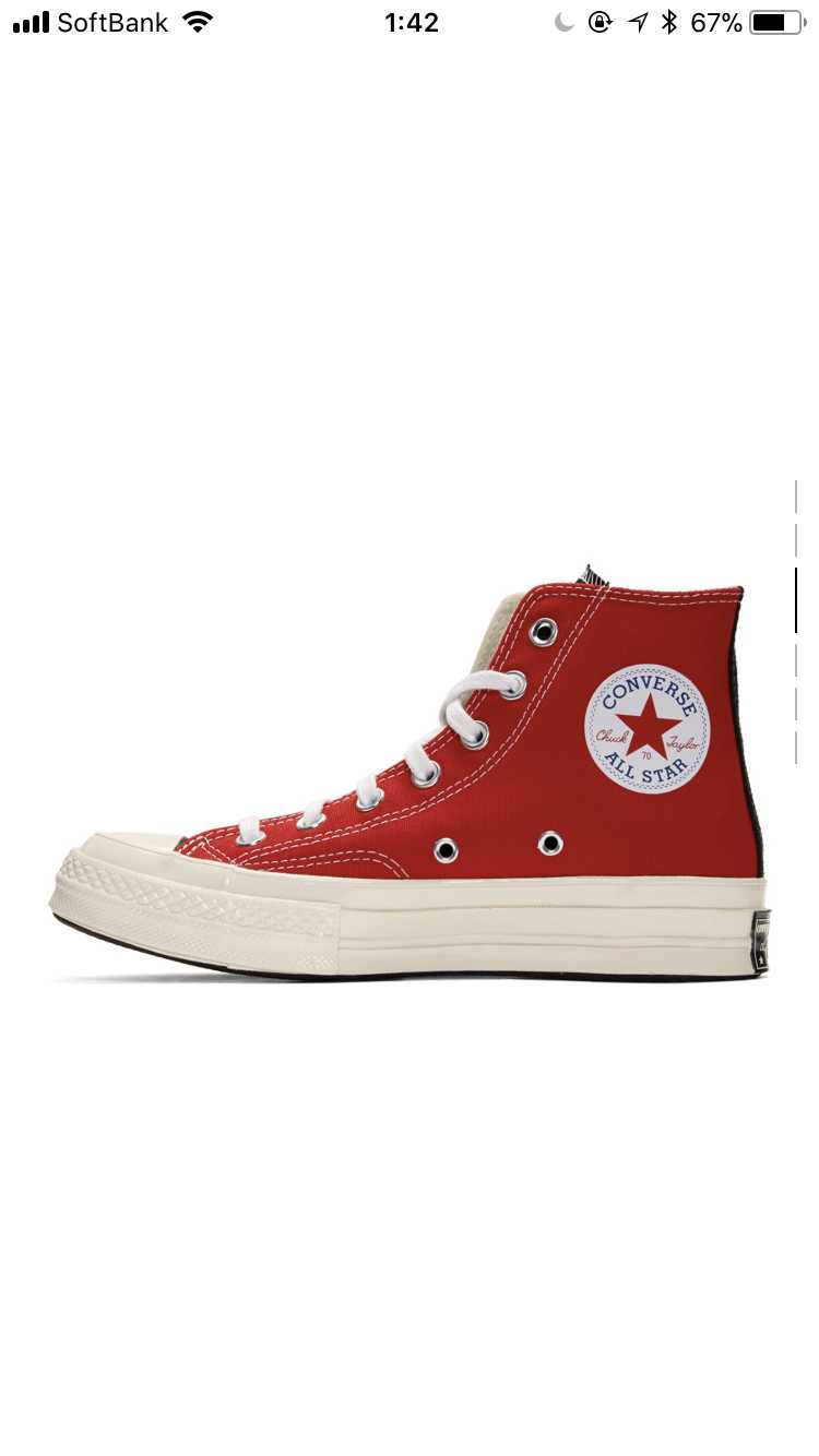 Converse White&Red Play Chack 70 High