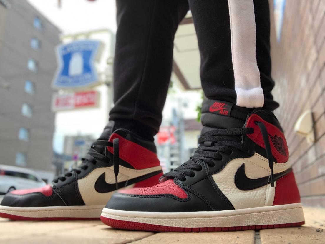 久々投稿! bred toeを購入したので初履き! #aj1 #nike #