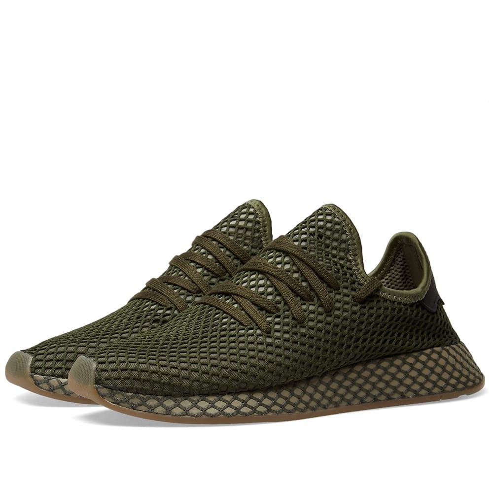 adidas DEERUPT RUNNER BASE GREEN/BASE GREEN/ORANGE
