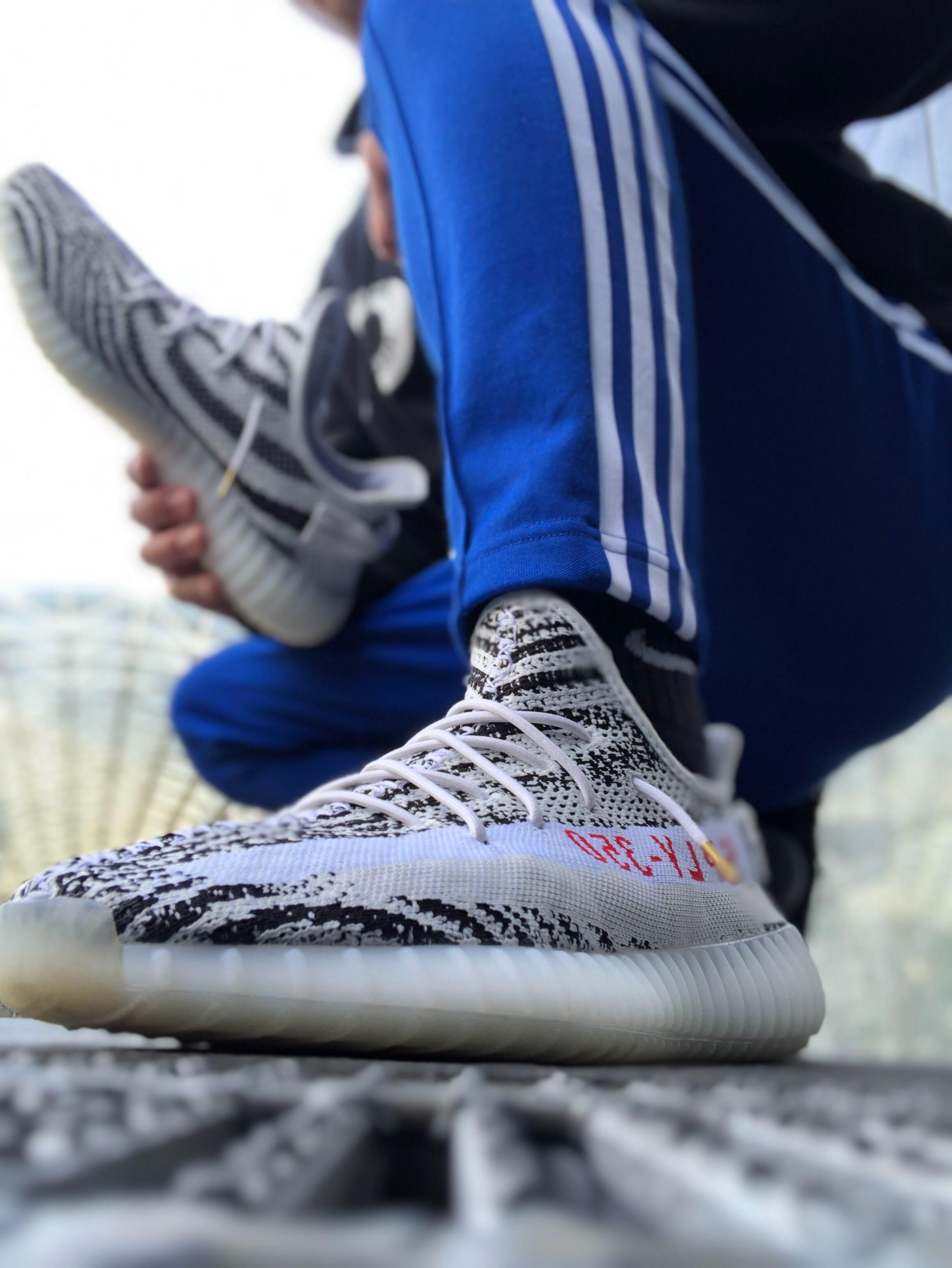 #adidas #yeezyboost350v2  紐をアレンジしたよ❤️