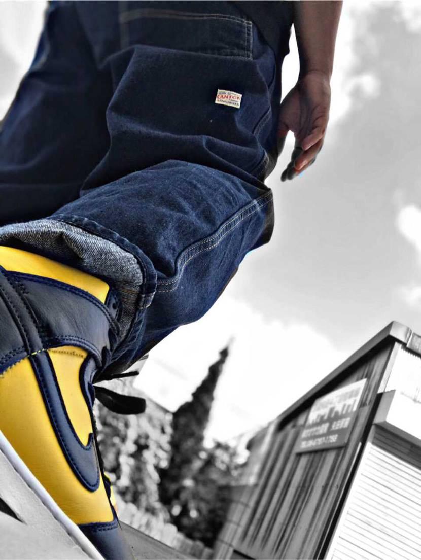 DUNK Michigan 履いてみました なんか、作業着感、、 ファッショ