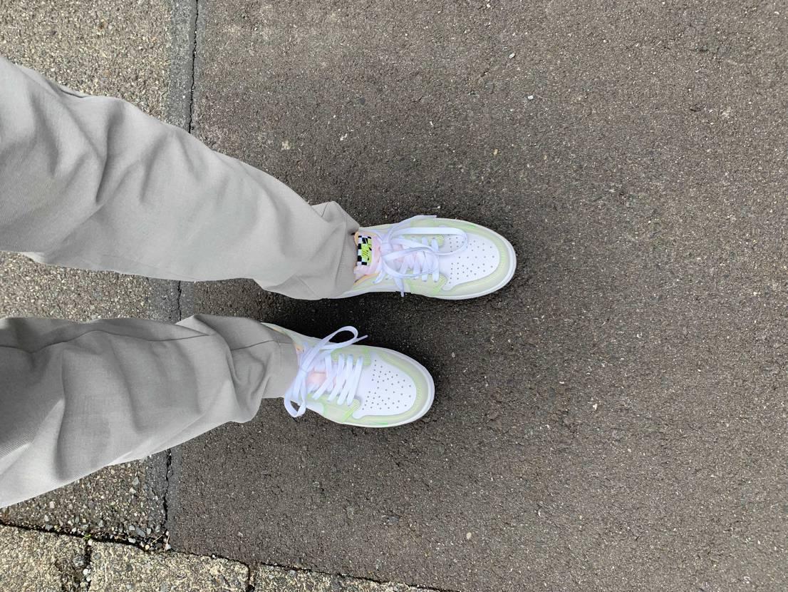 本当は昨日出かける時に履きたかったけど届かなかったので本日初履き!久しぶりに新品