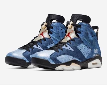 "Air Jordan 6 Retro  ""Washed Denim""  S"
