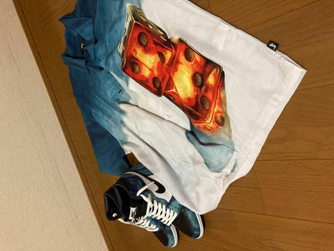 ステューシーのシャツと夏仕様で相性抜群かも😁