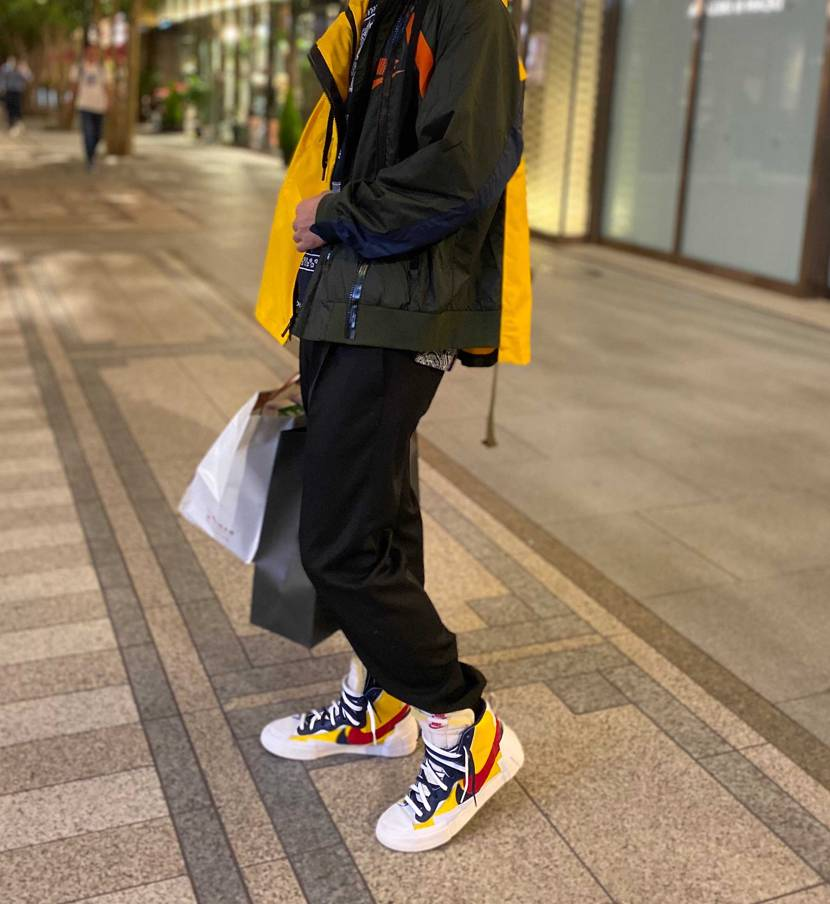 パーソナルトレーニング&お買い物帰り Sacai × Nike のジャケットが