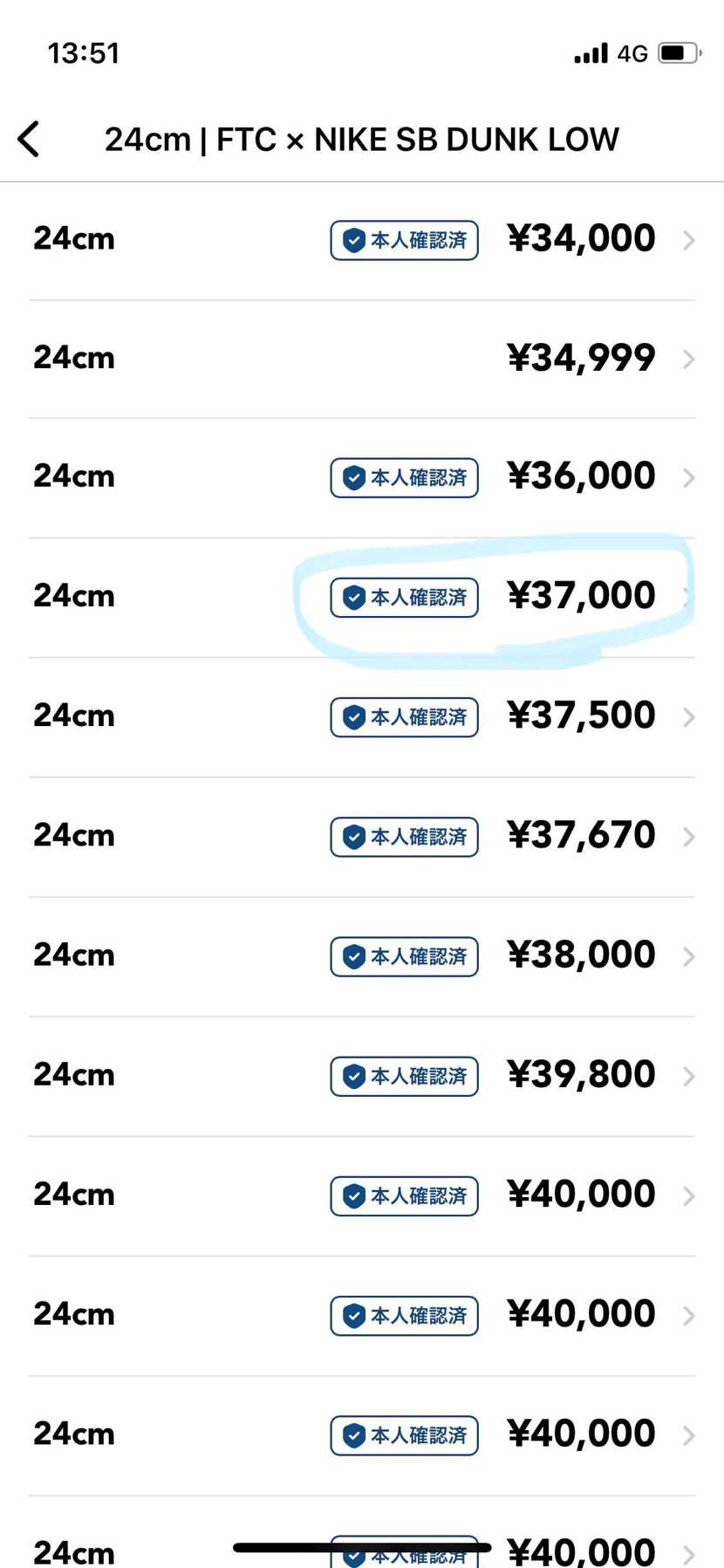 FTCダンクロー24cmをタオル、ショッパー付きで3,7000で出品してます!