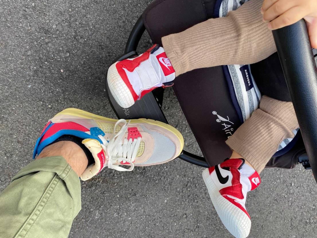 子供に踏まれたり ガシガシ履いています ただやはりローテクなので足が疲れます