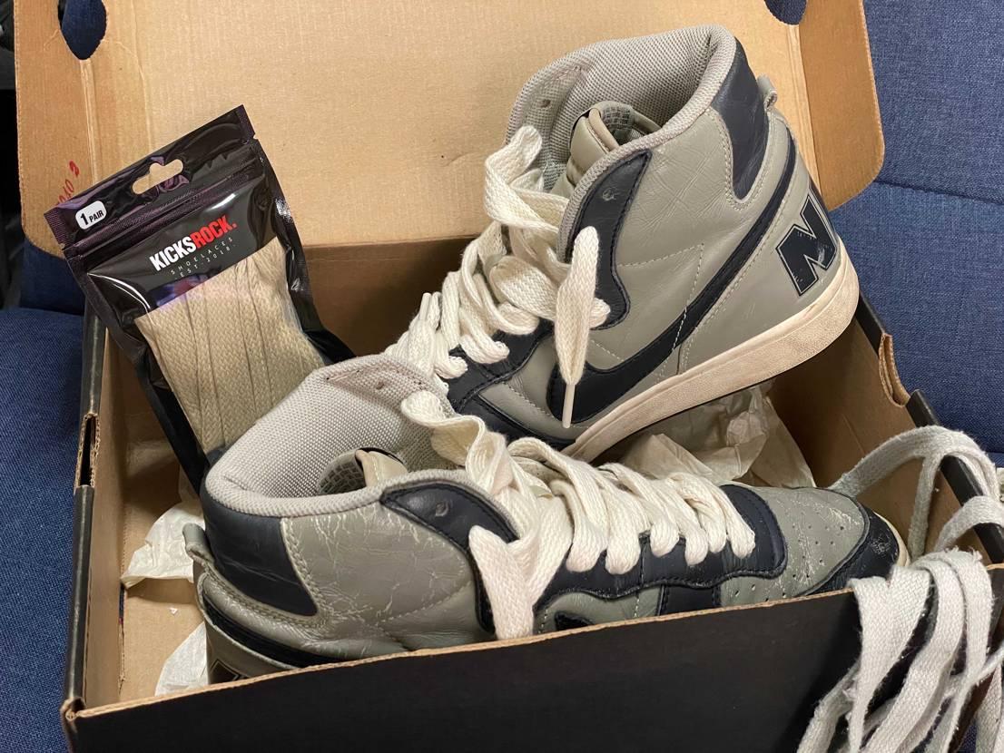 Kicksrockのwide cotton shoelaces購入。