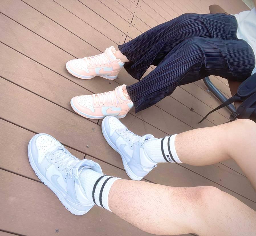 奥さんにプレゼントしたダンクハイ ピクニック行く時にやっと履いてくれました笑