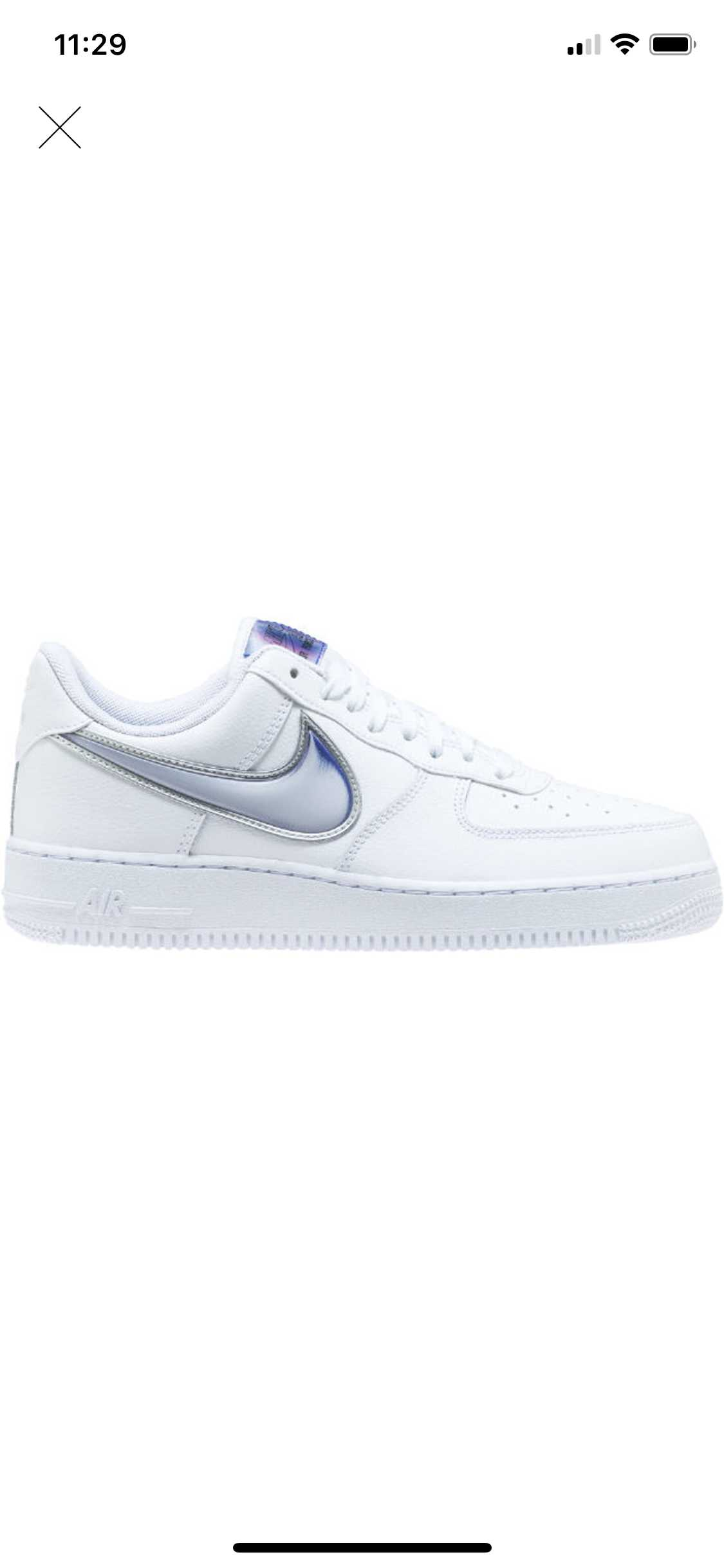 Air Force 1 Low Oversized Swoosh White raver blue