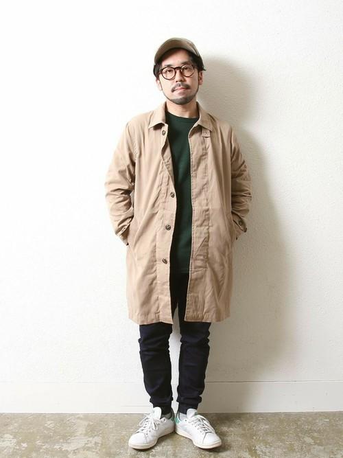 スタンスミス × ステンカラーコート