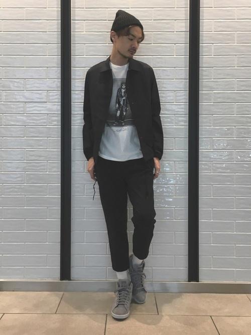 スタンスミス × ブラックコーデ