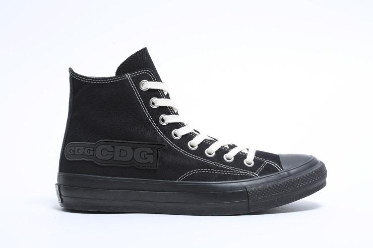 コム デ ギャルソン × コンバース アディクト チャックテイラー キャンパス ブラック