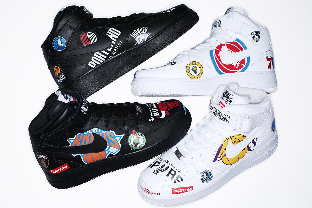 シュプリーム × NBA × ナイキ エアフォース1 ミッド '07 全2色 1枚目