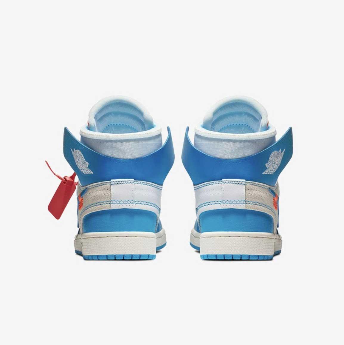 オフホワイト×ナイキ エアジョーダン1 UNC ホワイト/ダークパウダー ブルー【6/23発売】