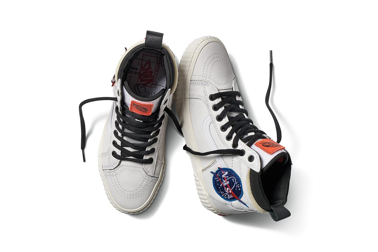 ナサ × バンズ スペース ボヤージ コレクション スケートハイ ホワイト