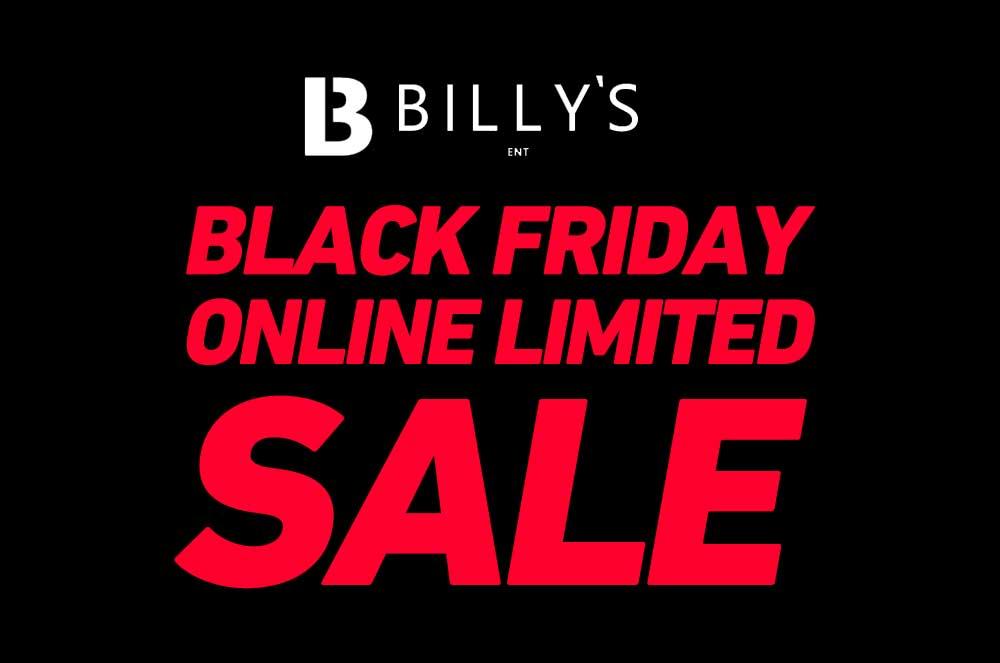 【オンライン限定】Billy's ENTオンラインにてブラックフライデーセールが開催!